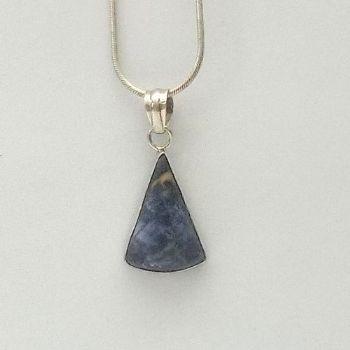 Slim triangular Lapis Pendant